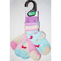Носки детские с бабочками, в упаковке 5шт, ТМ F&F