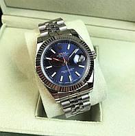 Годинник Rolex DateJust 40mm Silver/Dark Blue (ETA 2834). Replica: AAA.