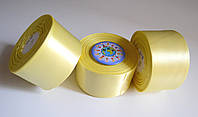 Лента атласная 50 мм Жёлтая
