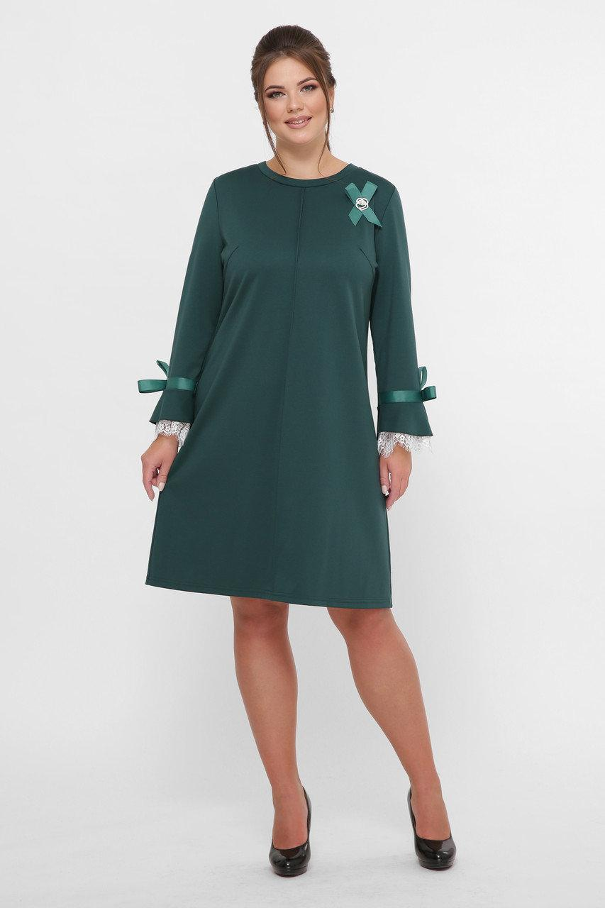 Красивое  платье Майя  изумруд(52-58)