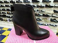 Модные женские кожаные  ботиночки на не большем каблуке