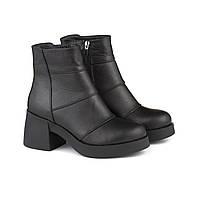 VM-Villomi Кожаные зимние ботиночки на массивном каблуке