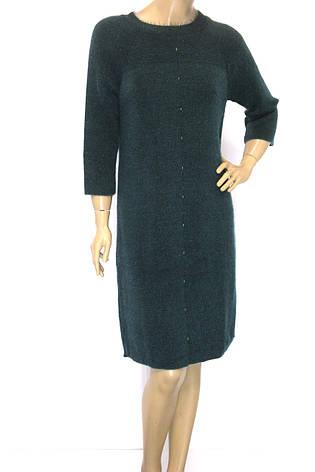 Тепле смарагдове плаття з люрексом, фото 2