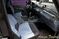 Доступная и модная перетяжка сидений автомобиля зам. алькантара-эко кожа