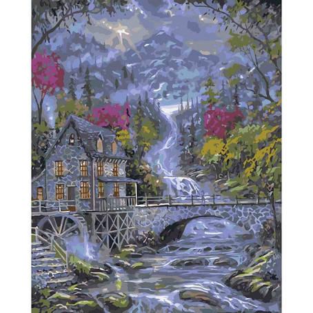 """Картина по номерам. Городской пейзаж """"Волшебный ручей"""" 40*50см * KHO2246, фото 2"""