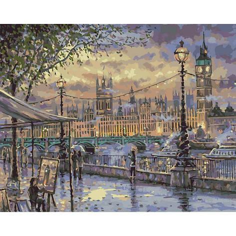 """Картина по номерам. Городской пейзаж """"Вечерний Лондон"""" 40х50см * KHO3513, фото 2"""