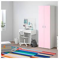 IKEA STUVA/FRITIDS Шкаф, белый, светло-розовый (892.657.75)