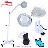 Лампа-лупа напольная светодиодная на гибком штативе (ЛЭД LED) с крышкой