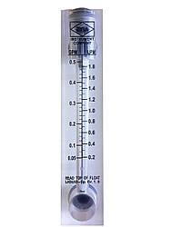 Ротаметр для води FM 005 (0,2 - 1,8 л/хв) панельний