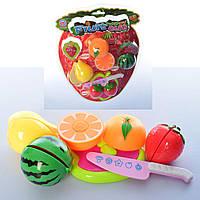 Продукты на липучке, фрукты, ягоды, досточка, нож, S2183