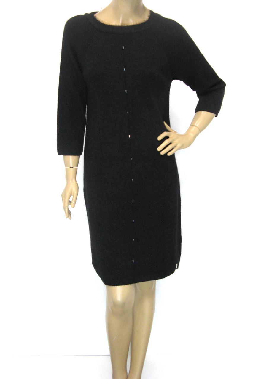 Тепле чорне плаття з люрексом