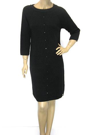 Тепле чорне плаття з люрексом, фото 2