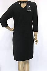 Тепле чорне плаття з люрексом, фото 3
