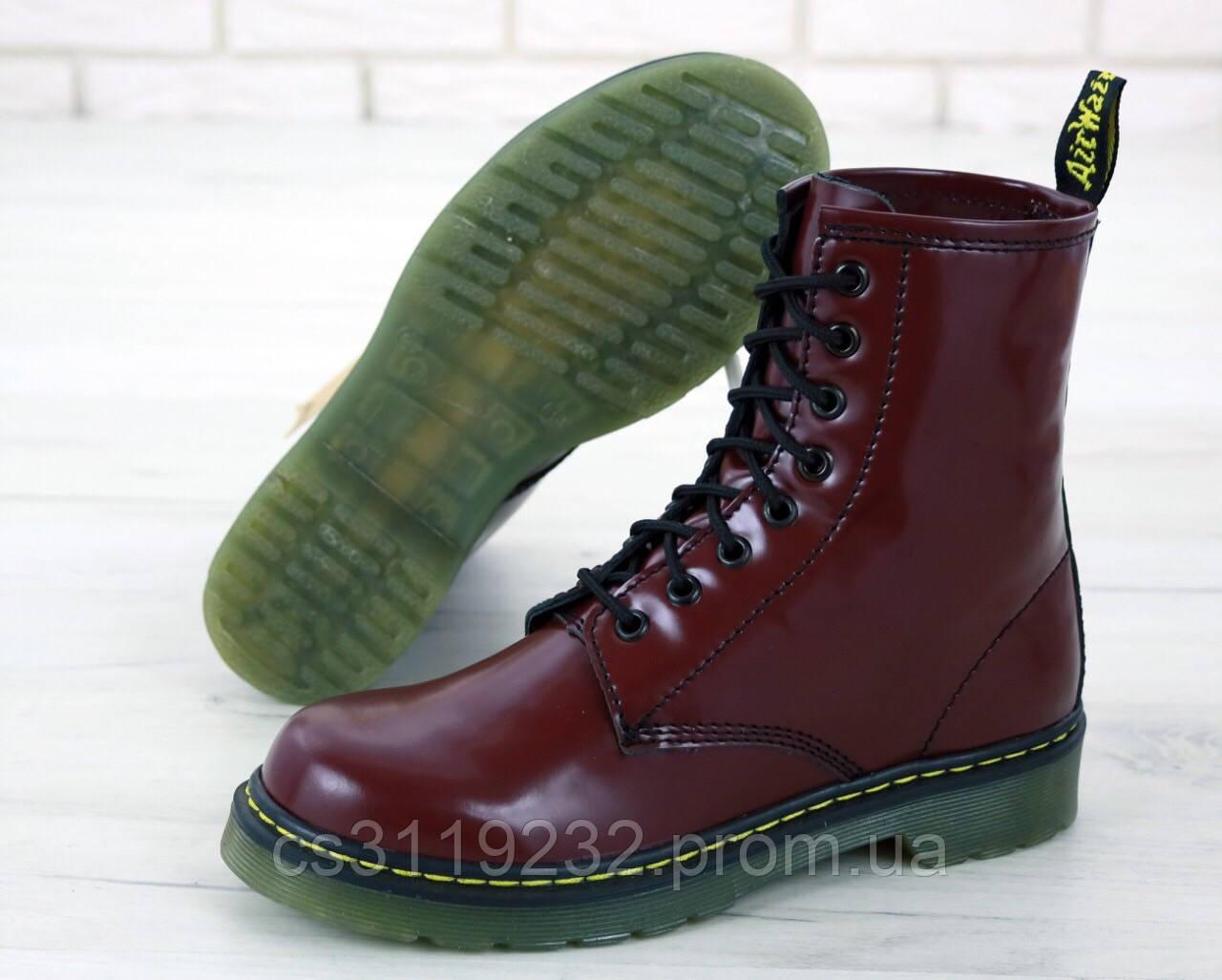 Женские ботинки Dr Martens 1460 демисезонные (вишнёвый)