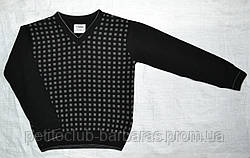 Пуловер для хлопчика з візерунком чорний (р. 140-158 см) (InCity, Туреччина)