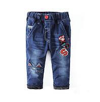 Утеплённые детские джинсы на 94 и 140