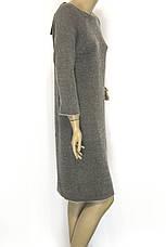 Тепле бежеве плаття з люрексом, фото 3