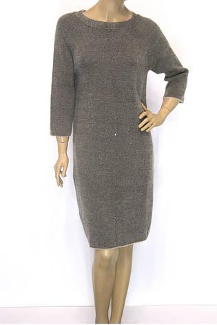 Тепле бежеве плаття з люрексом, фото 2