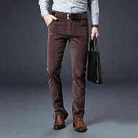 Мужские вельветовые джинсы, брюки размер стандарт, и большой размер XL-10XXL