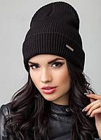 Удлиненная шапка с отворотом Barry Flip Uni черная