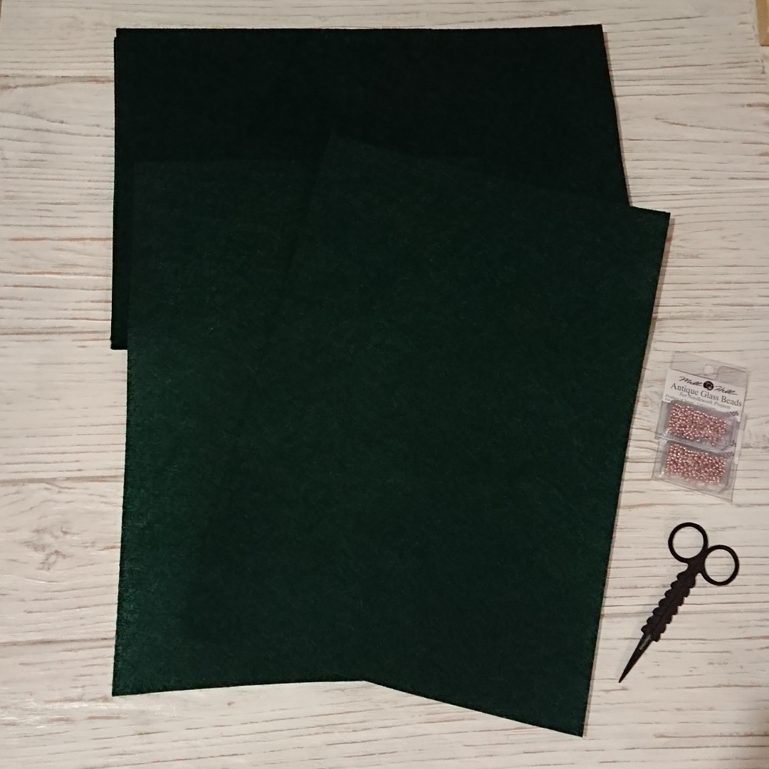 Фетр жесткий 1 мм, Royal Тайвань темно-зеленый 20*30 см