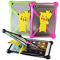 Чехол универсальный силиконовый для планшетов Pokemon Розовый