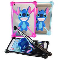 Чехол универсальный силиконовый для планшетов Stitch Розовый