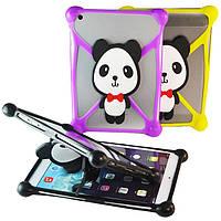 Чехол универсальный силиконовый для планшетов Panda Жёлтый