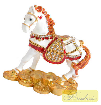 Шкатулка ювелирная Лошадь QF4545, фото 2