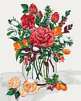 Картина по номерам Идейка Букеты Сладкий привкус праздника 40*50см KHO3028