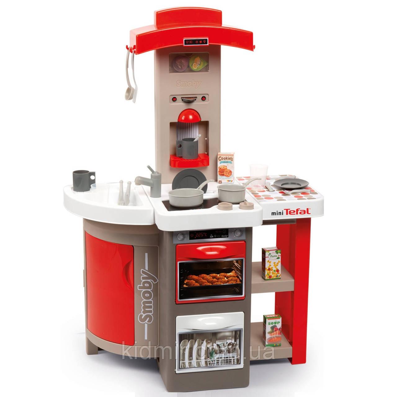 Кухня игрушечная Тефаль Повар раскладная красная Tefal Smoby 312200