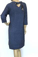 Тепле зимове синє плаття з люрексом, фото 3