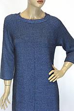 Тепле зимове синє плаття з люрексом, фото 2