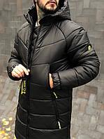Мужская зимняя куртка черная Dizzy K4 с капюшоном непромокаемая