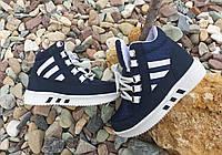 Детские зимние кроссовки темно-синие, фото 1