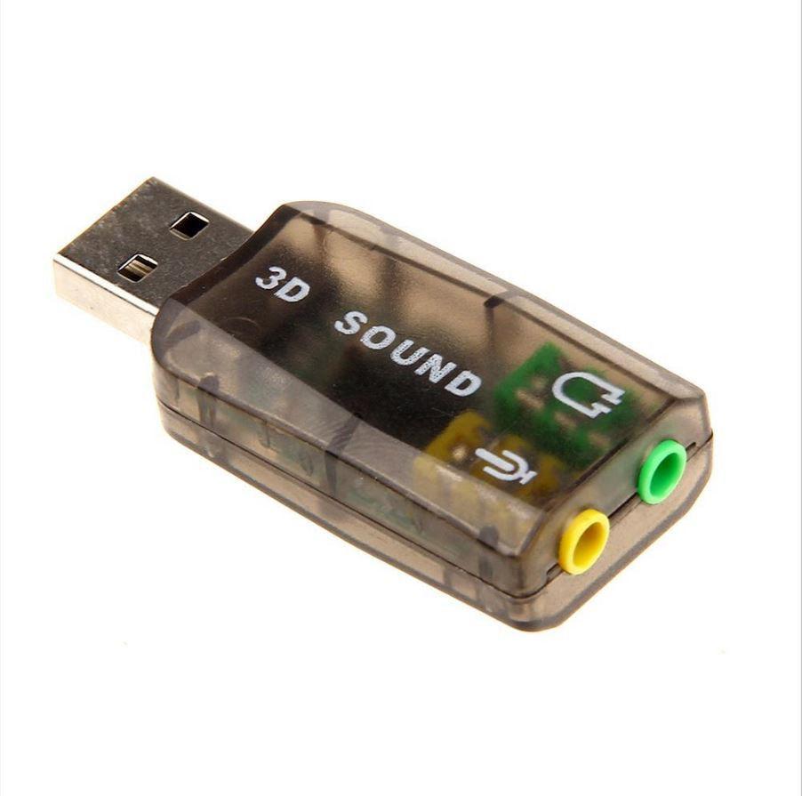 USB Звуковая карта 3D Sound для компьютера Внешняя звуковая карта