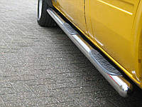 Боковые пороги труба Volkswagen LT нержавейка любая база