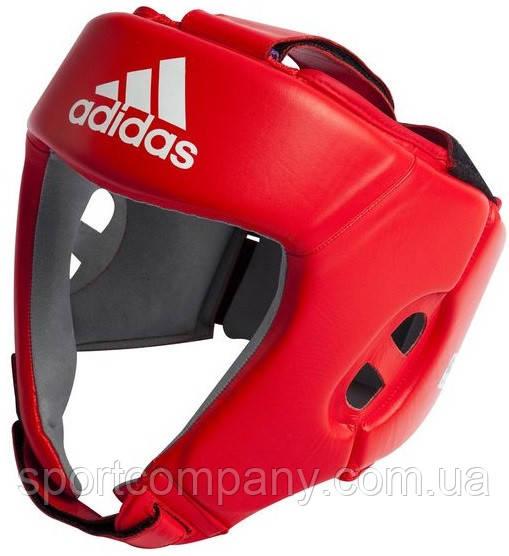 Боксерский шлем Adidas с лицензией AIBA для соревнований, красный