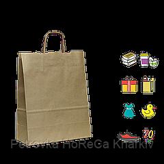 Бумажный пакет крафтовый с кручеными ручками 330*160*420мм (Ш.Г.В) Пл 100г Нагр 10кг (640)