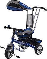 Велосипед триколісний SUN BABY Luxus Trike (XG18819G/N) з ручкою Блакитний