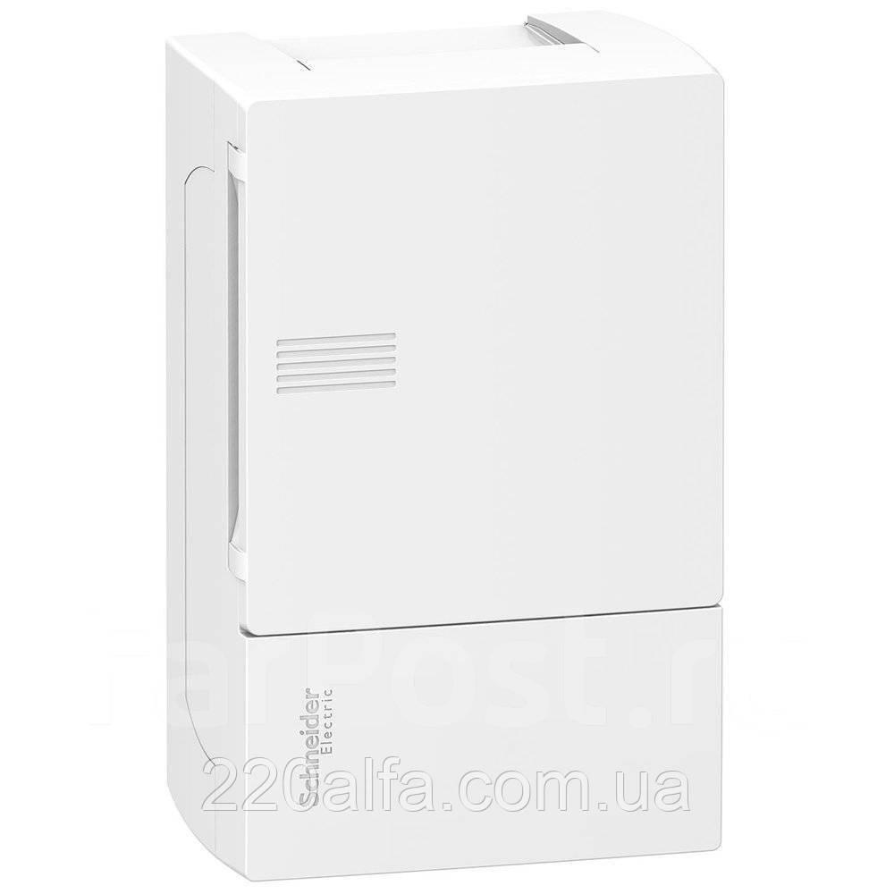 Наружный щиток на 4 автомата MINI PRAGMA SCHNEIDER ELECTRIC ( белая дверь)