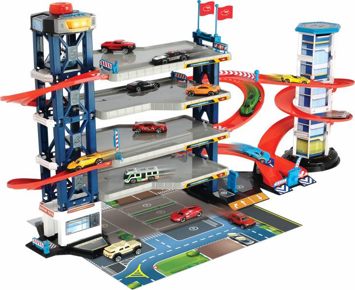 Паркінг на 4 рівня з машинками і вертольотом (світло і звук), Dickie Toys 3+ (3749008)