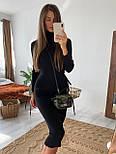 Женское стильное вязаное платье-миди резинка под горло (в расцветках), фото 3