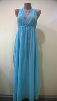 Платье-туника из бирюзовой сетки размер 44-48