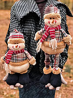 Новогоднее украшение фигурка под елку Снеговик с выдвижными ногами, фото 1