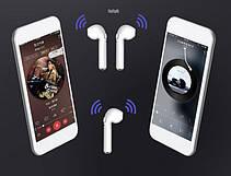 Беспроводные Bluetooth наушники iFans i8S TWS STEREO with box Белые(Реплика), фото 3