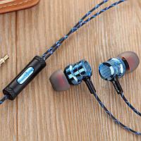 Наушники с микрофоном 3,5 мм Cokike X21 Синий