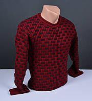 Мужской джемпер бордовый | Мужской свитер Турция 014