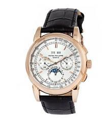 Мужские часы Patek Philippe Black-Gold-Silver, элитные часы Patek Philippe реплика ААА