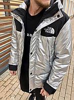 Мужская зимняя теплая куртка на синтепоне белая S M L XL, фото 1